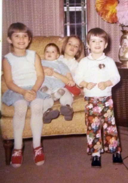 december 1969. from left, Suzy, Chrissy, Michele (aka KiKi Meep-Meep) and me.